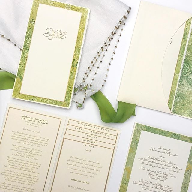 From Ellen Weldon Design, destination wedding with a full weekend of activities for your guests 🎉 #weddingwednesday #invitationsuite