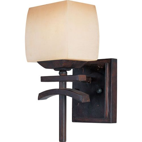 "Asiana One Light Wall Sconce Maxim Lighting International 1 Light Armed Glass Wall Sconce 5.5""W;$64"