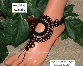 boda nupcial zapatos negro zapatos negros descalzos por NUDESHOES