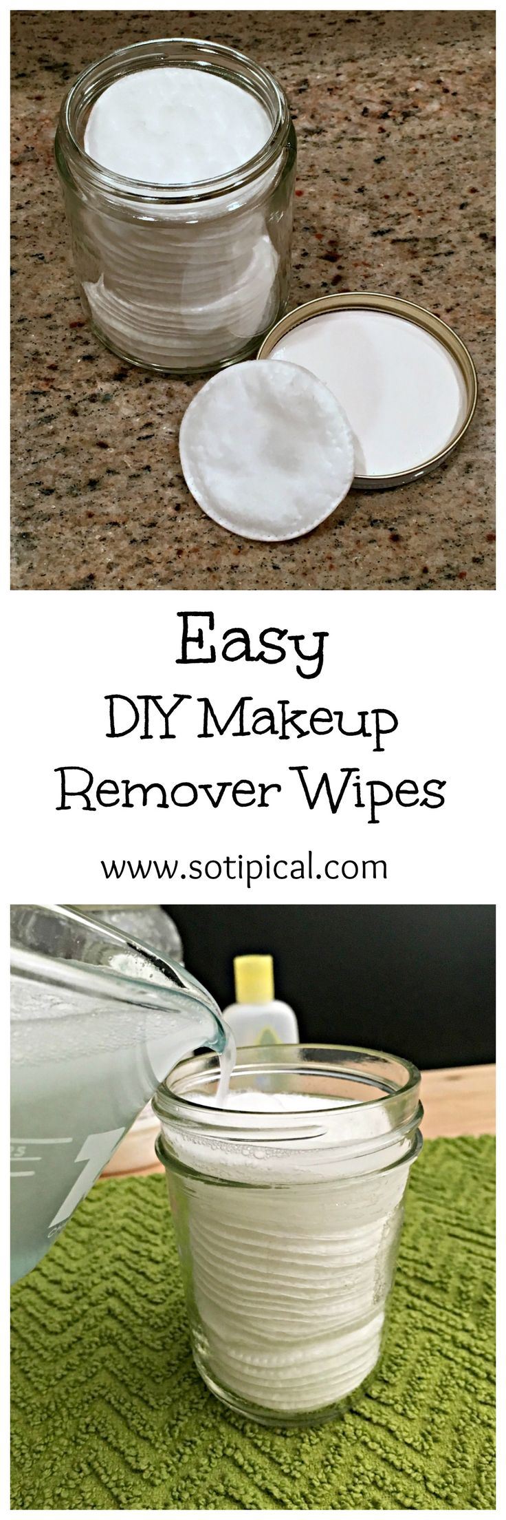 Easy DIY Makeup Remover Wipes. Here is an easy recipe to make your own eye makeup remover at home and it will save you money too!