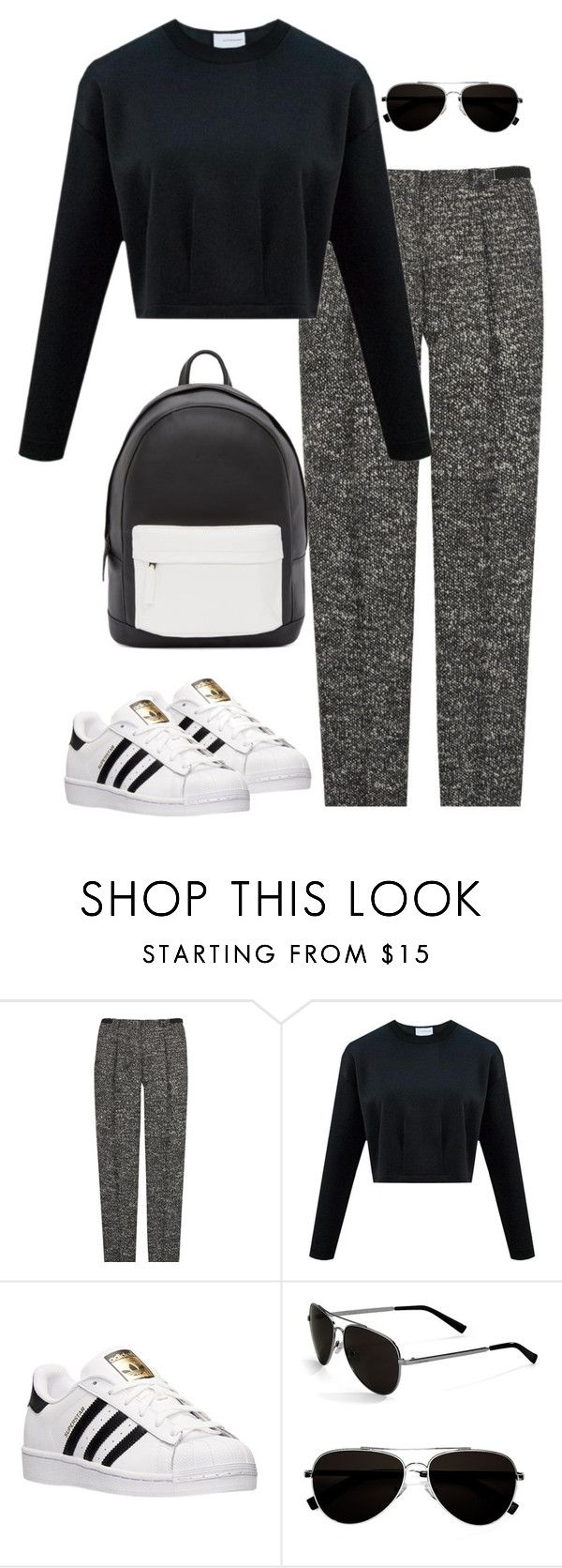 """Untitled #464"" by christyandnef on Polyvore featuring Burberry, adidas, Calvin Klein, PB 0110, women's clothing, women, female, woman, misses and juniors"