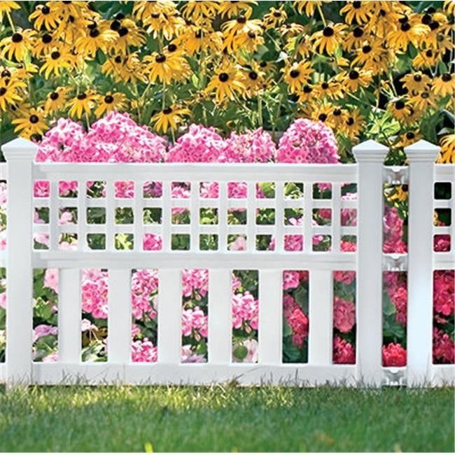 Great Suncast Corporation CPLGVF243PK White Grand View Fence (Pack Of 4)