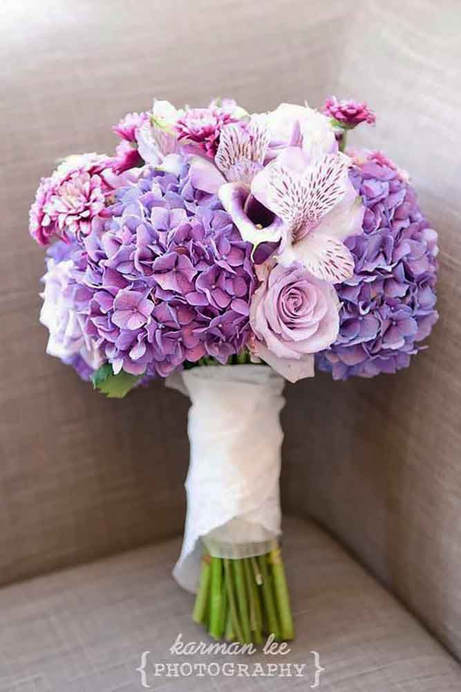 30 Purple & Blue Wedding Bouquets ❤ See more: http://www.weddingforward.com/purple-blue-wedding-bouquets/ #weddings #bouquets