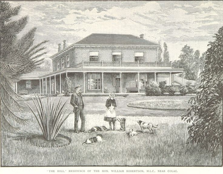 """""""The Hill"""" Residence of the Hon. William Robertson, M.L.C., Near Colac"""