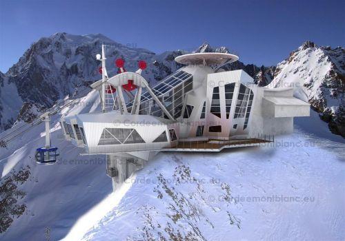 Ecco come sarà la stazione di Punta Helbronner alla fine dei lavori, prevista per il 2015