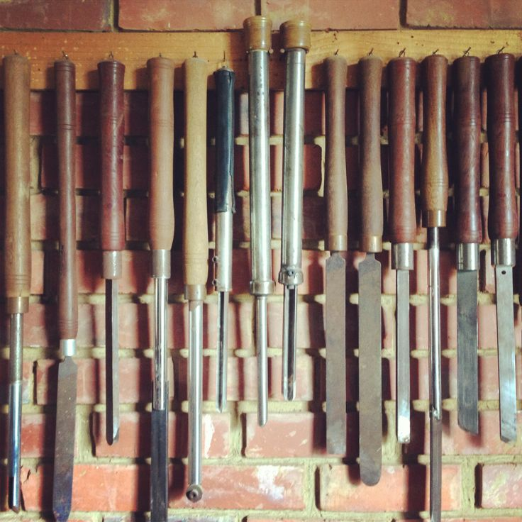 Wood turning tools at the Woodturner's Union, Pretoria.