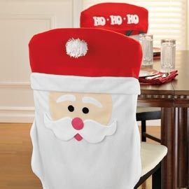 Santa Chair Covers, Holiday Chair Covers, Christmas Decor  | Solutions