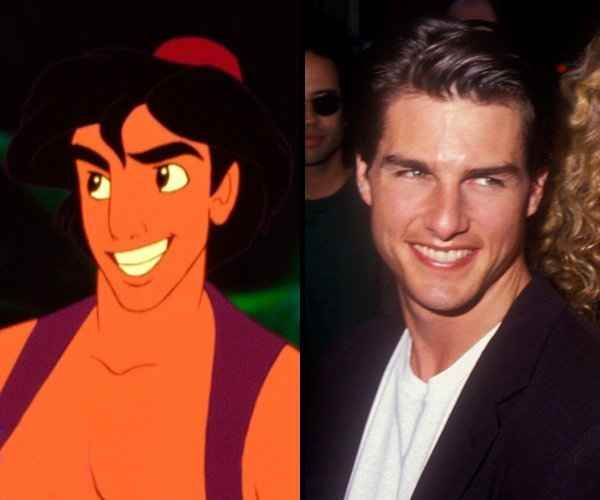 """Aladdin was modeled after Tom cruise 