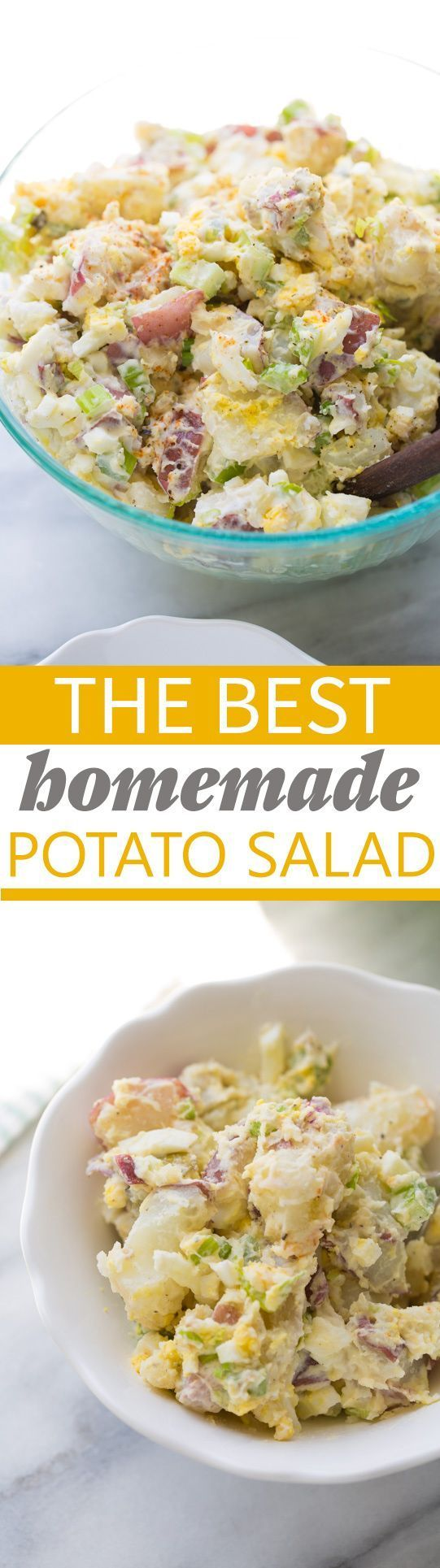 The Best Homemade Potato Salad! Everyone always asks for this recipe. Such a crowd-pleaser!