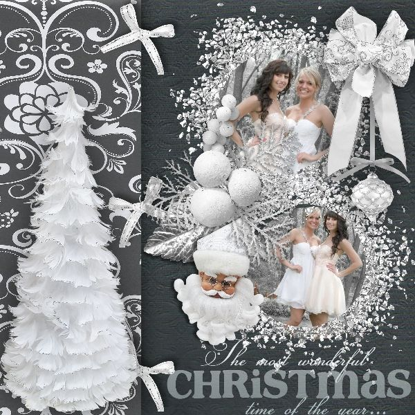 CT page for new kit of Bee créations SILVER X-MAS   Photo: Katia phogography