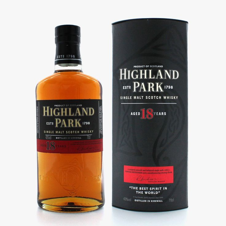 Whisky highland park 18- My favourite Whisky but only because I ain't been luck enough to taste one of their older bottles