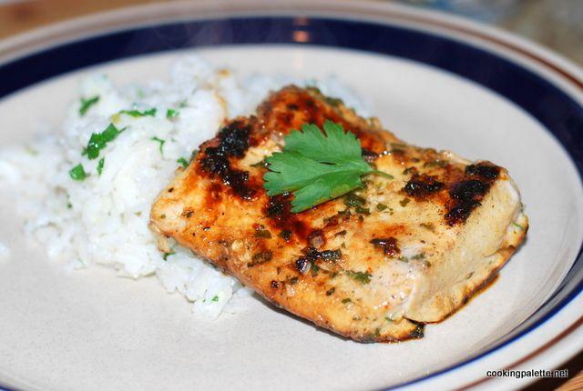 Махи-махи в кисло-сладком маринаде (лосось, тунец или другая рыба)