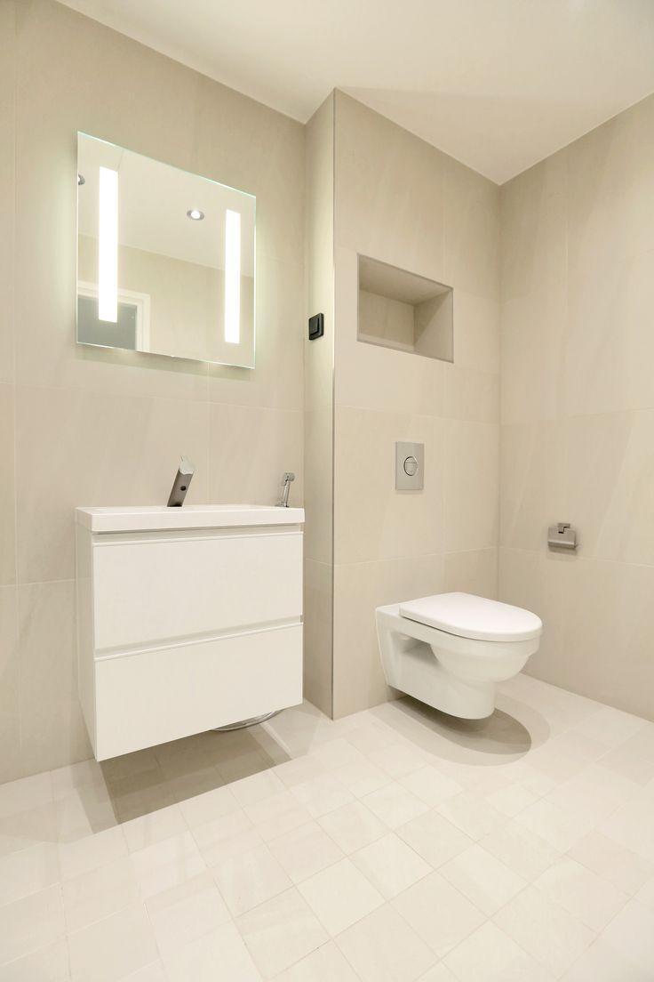 """Beigen kylpyhuoneen laattavalinnat ABL-Laatat. #abl #laatat #abllaatat #beige #vessa #""""kylpyhuone"""