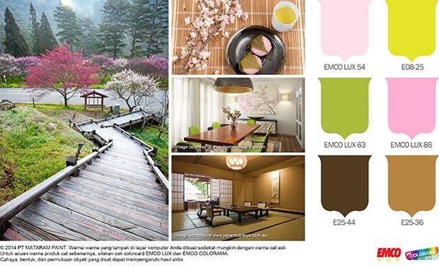 Hunian Cantik dan Alami khas Negeri Sakura #Inspirasi #Warna http://matarampaint.com/detailNews.php?n=142