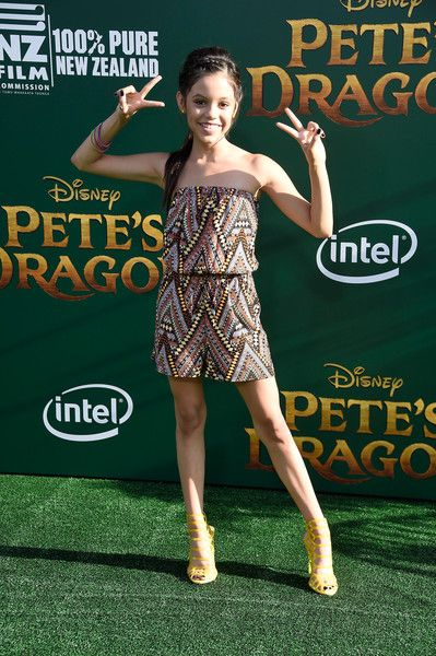 "Jenna Ortega Photos - Actress Jenna Ortega attends the premiere of Disney's ""Pete's Dragon"" at the El Capitan Theatre on August 8, 2016 in Hollywood, California. - Premiere of Disney's 'Pete's Dragon' - Arrivals"