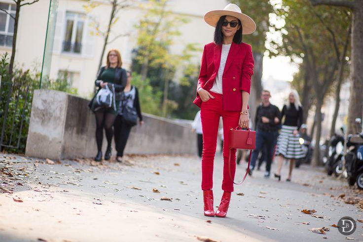 lowbudget-lowcost fashion blog: Pantaloni rossi: abbinamenti e  idee red pants outfits trousers look ideas inspo