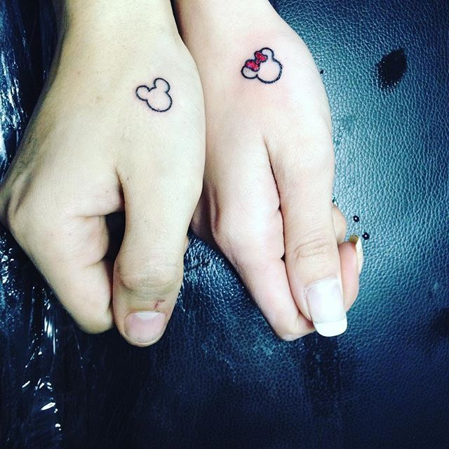 best 25 matching disney tattoos ideas on pinterest disney sister tattoos disney tattoos and. Black Bedroom Furniture Sets. Home Design Ideas