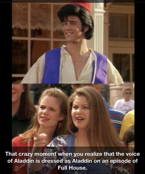 maybe that was a reference they threw in there...... I mean if they are genius enough to come up with a good show such as full house I am sure they would be cool enough to do something like that   but no I never knew lol
