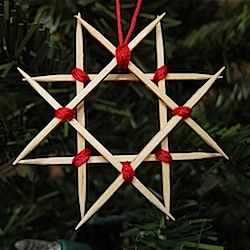 How to turn toothpicks into a Scandinavian-inspired wooden star ornament.