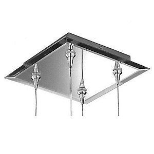 Mirrored Square Multi-Light Canopy by Schonbek Geometrix by Schonbek Lighting. $240.00. The Schonbek Geometrix Mirrored Square Multi-Light Canopy is used to hang and supply power to an array of any four low voltage Schonbek Geometrix pendants or spots. It features a Chrome finish with a mirrored and beveled surface that reflects and enhances the sparkle and glow of its respective elements. Schonbek Lighting, established in 1870 in Bohemia, has been making tradition...