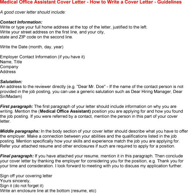 Office Assistant Resume Cover Letter | Can Use This Following Medical  Office Assistant Example Cover Letter