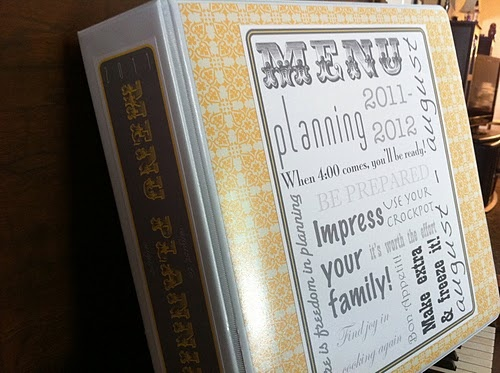 Meal Plan Binder w/printables and photos for a year's worth of meals!