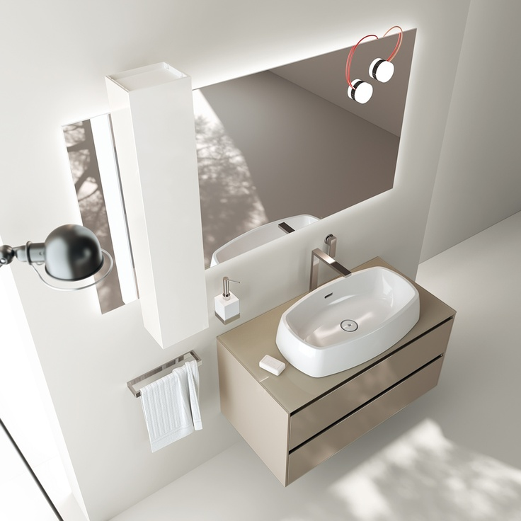 The project offers original and functional solutions, whatever the size of the room | #Scavolini | #Bathrooms