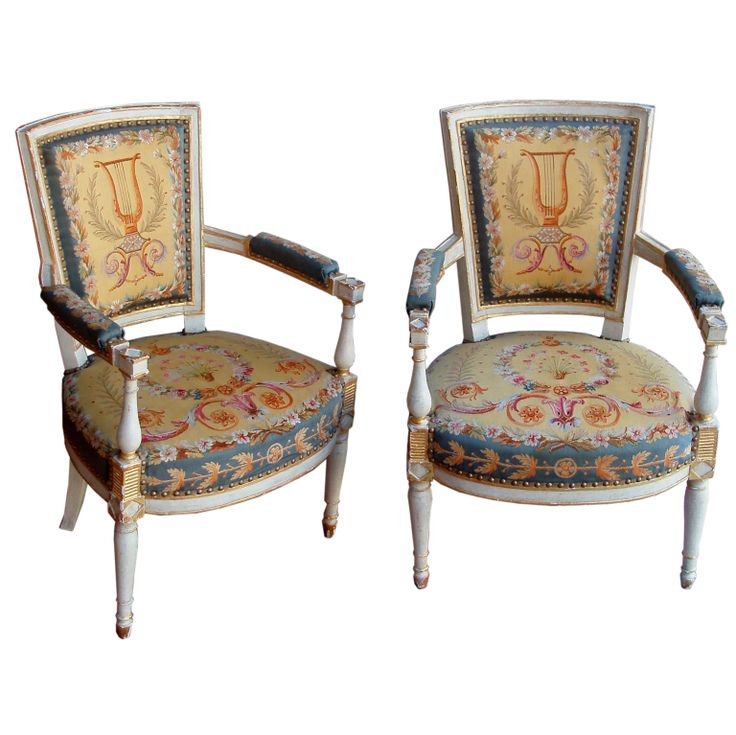 Pair of louis xvi fauteuils armchairs modern and for Furniture 777