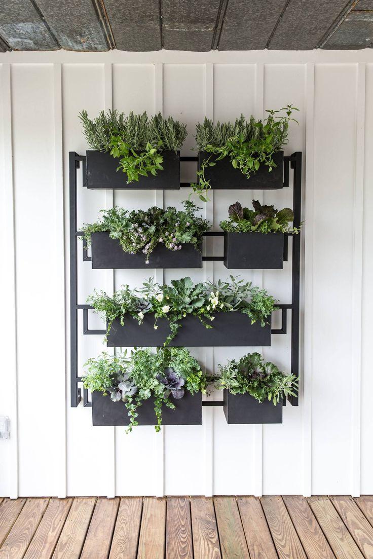25 best hanging herb gardens ideas on pinterest kitchen for Hanging garden designs