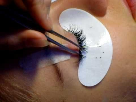 ▶ Individual Eyelash extensions - extending top and bottom eyelashes - YouTube