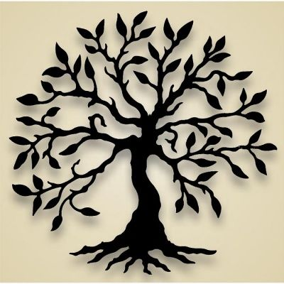 silhouette tree of life | ... wall-hanging-flower-tree-olive-tree-wall-bc-olivetree-wall-8937big.jpg