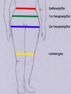 Uitleg over hoe je je eigen patroon voor een rechte rok maakt.