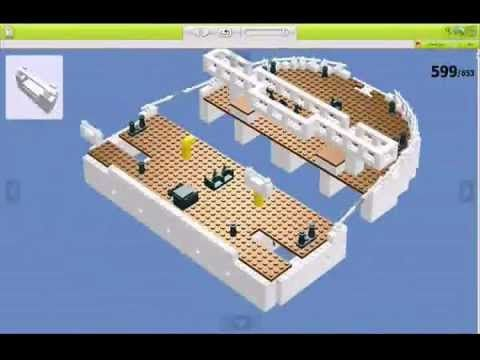 The Making of Lego Titanic i really thank you should watch this it gives you tips on building the r.m.s titanic