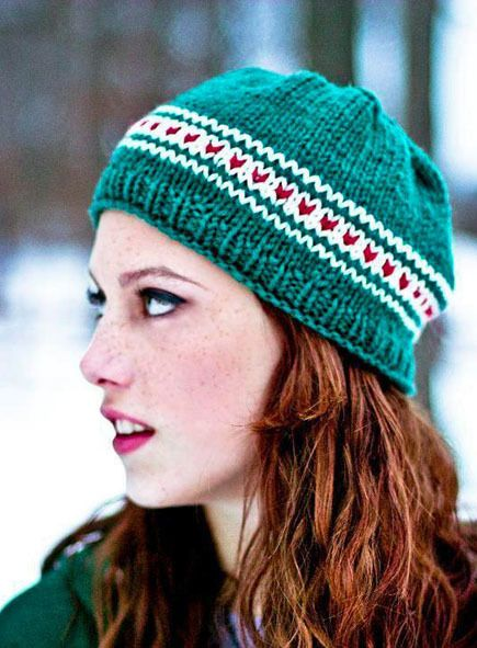 Knit Fox Beanie Hat - Free Easy Pattern that uses only 1 skein of yarn!