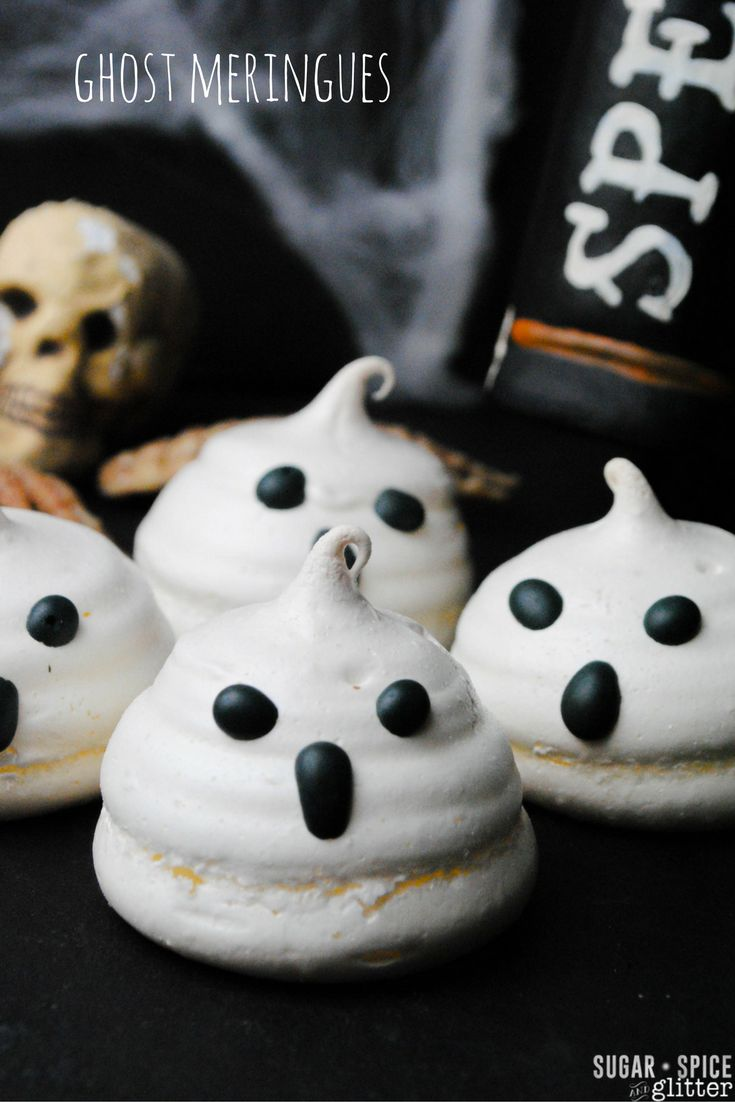 These spooky & sweet ghost meringue cookies are sure to be a scream ...