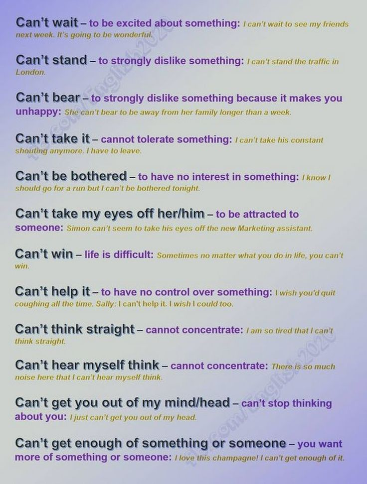 Expressions with CAN'T #learnenglish