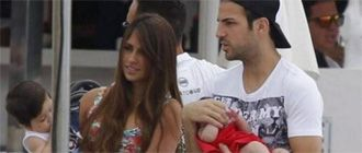 El 'tío' Cesc cuida de Thiago, el hijo de Messi