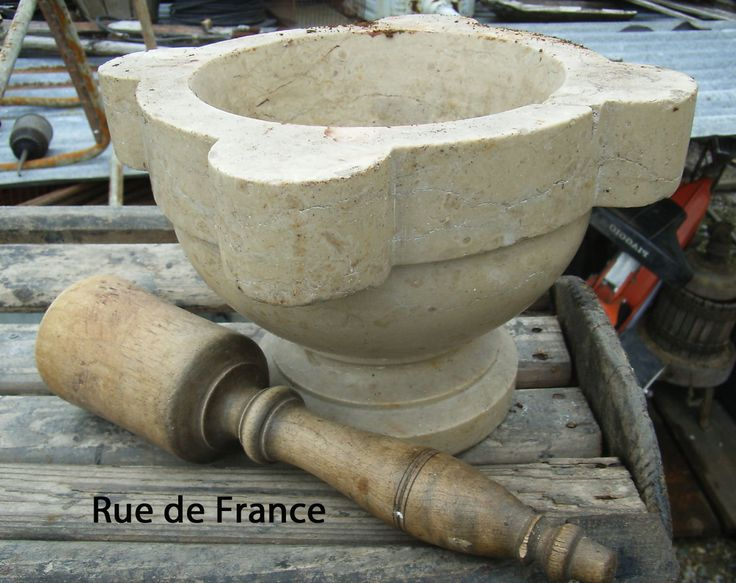 Antique French Kitchen marble mortar and pestle