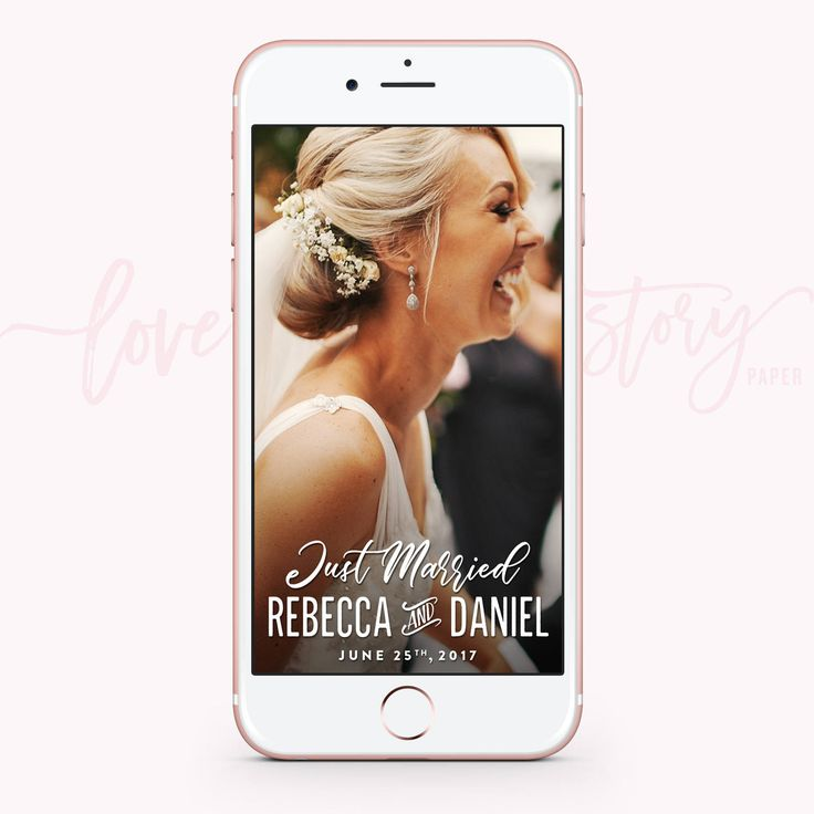 Share your special day with your friends and family via your own Wedding Geofilter! Also makes for a great wedding gift!  ✶ INSTRUCTIONS ✶ Please add the following information in the 'Note to Seller' text box during the checkout process. ––– First Names ––– Date (please write it as you want it to be shown)  ✦ HOW DO I RECEIVE MY GEOFILTER? ✦ Your personalized geofilter will be designed and emailed to you within 24-48hrs of purchase. Your geofilter will be emailed to the email linked with…
