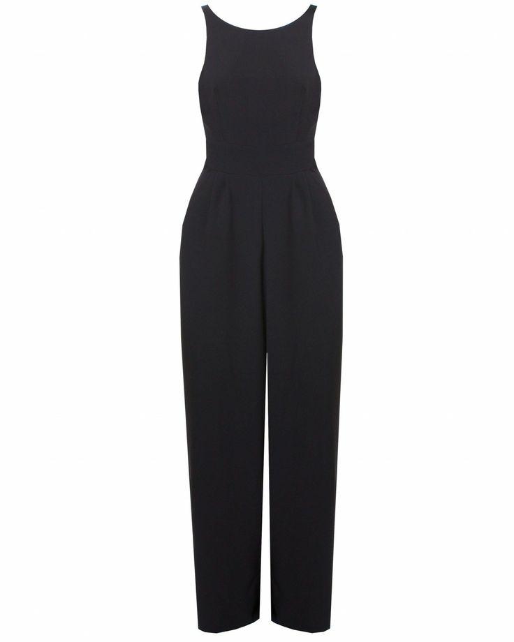 LOVE Black Open Back Jumpsuit