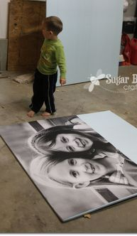 YES - this is the ORIGINAL Tutorial on how to make those big giant photo prints for super cheap - awesome. the ultimate craft for home decor