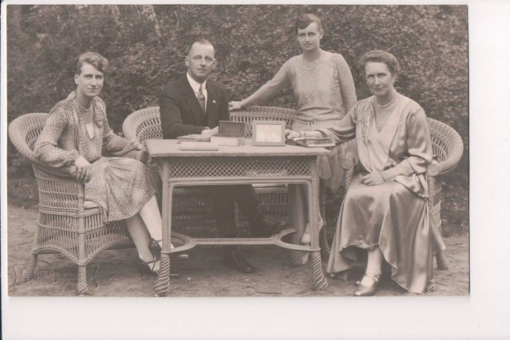 Nikolaus, Hereditary Grand Duke of Oldenburg, with his wife and daughters.