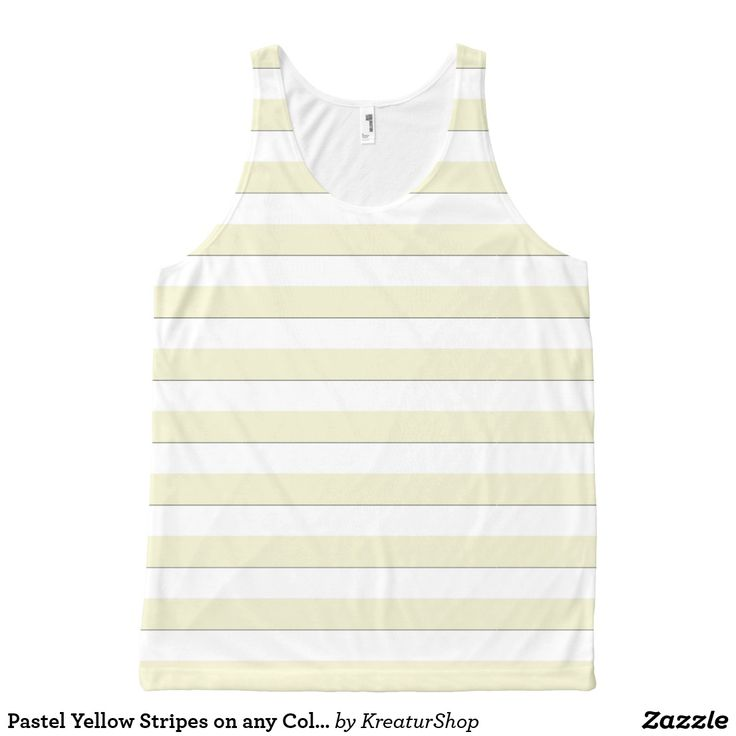 Pastel Yellow Stripes on any Color Tank Top