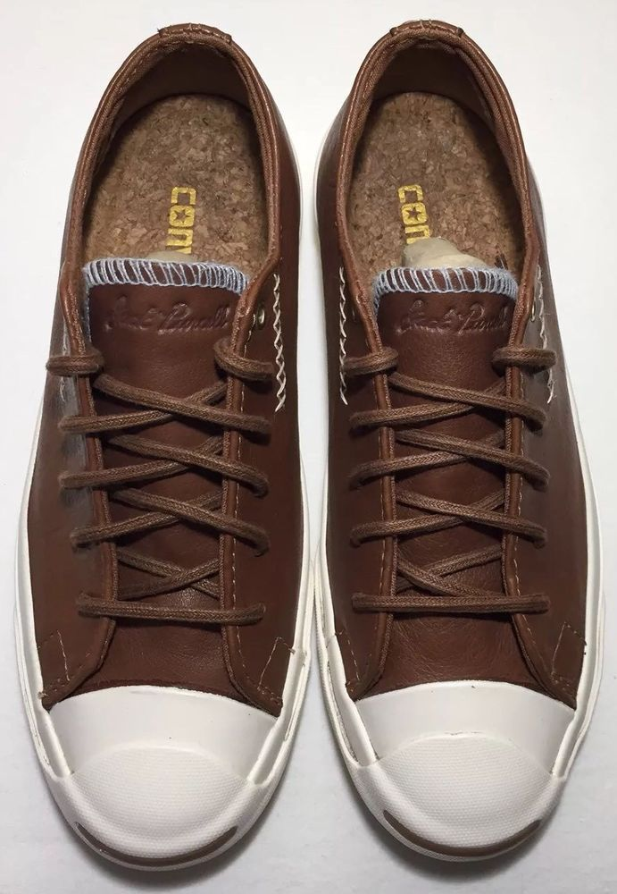 366e2b8c6e86 Converse Jack Purcell Brown Tobacco Leather Sneakers Size Men 3.5 Women 5