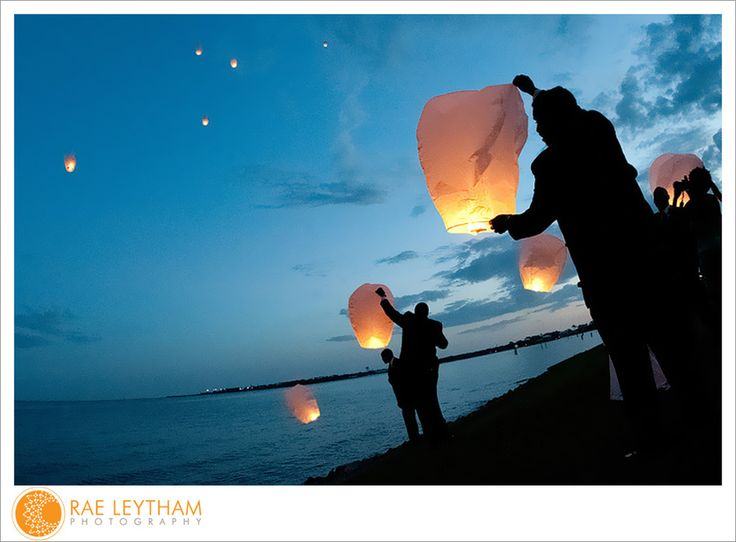 Lantern Release at a wedding. Photos by Rae Leytham Photography