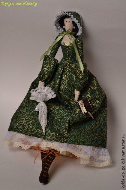 Тильда - Скарлетт - тёмно-зелёный,тильда,тильда кукла,красивая,необычно