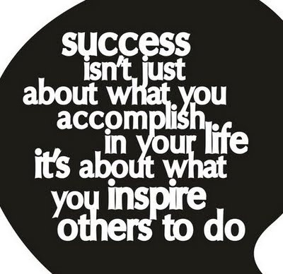 Success - I think this a perfect quote for the end of the Olympics.