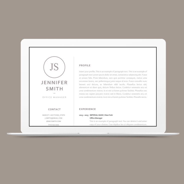 20 Best Elegant Resume Templates Images On Pinterest | Resume