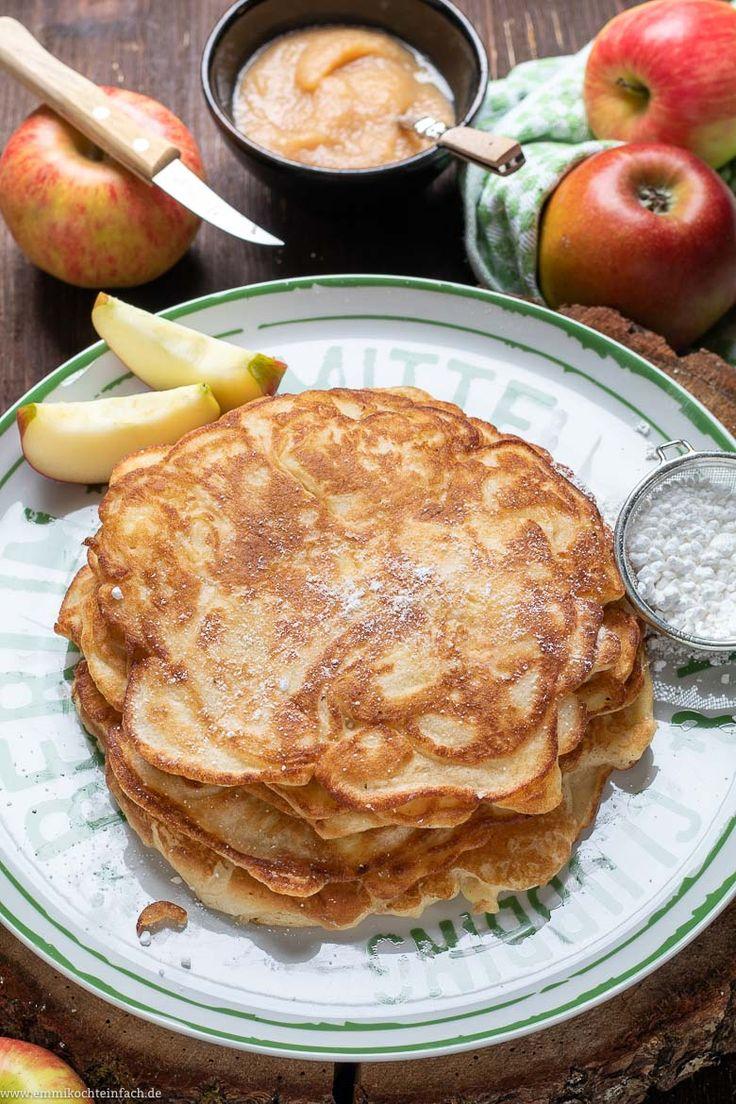 apfelpfannkuchen klassisch und fluffig rezept apfelpfannkuchen pfannkuchen und rezepte