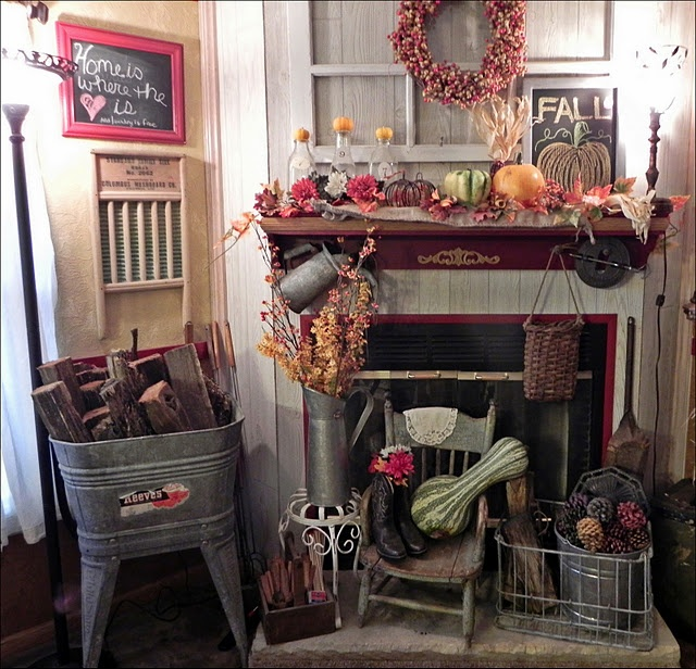 Fall Decorating Ideas Country Home: Prim Fall Decorating...I Could See All Of This In My House